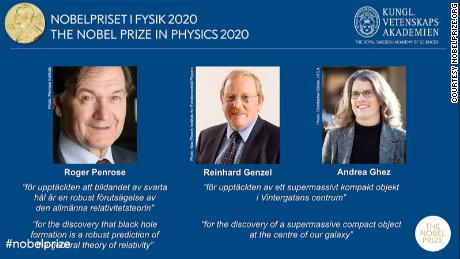 Photo of 3 scientists share Nobel physics prize for black hole research