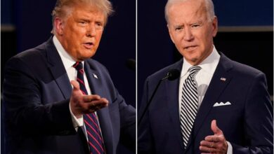 "Photo of Combative Trump Says Pandemic Over, Joe Biden Says He Did ""Nothing"""