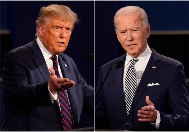 """Photo of Combative Trump Says Pandemic Over, Joe Biden Says He Did """"Nothing"""""""