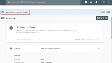 "Photo of ""Page Actions Are Temporarily Disabled"" – How to Index?"