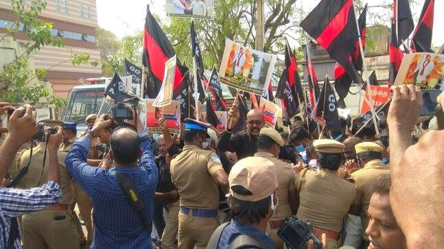60 detained over 'Modi Against Tamil' protest ahead of PM Modi's Tamil Nadu visit