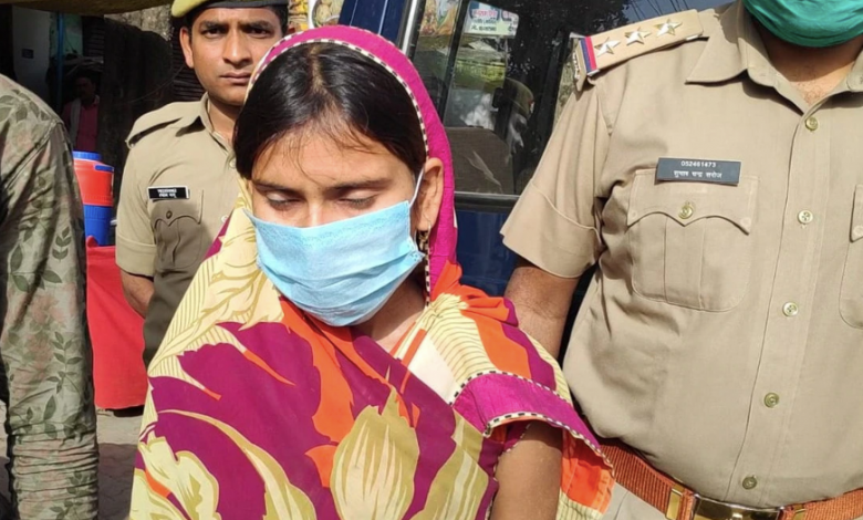 Hardoi: The woman had an illicit relationship with her cousin, killed her husband in a terrible way