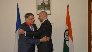 Ratan Tata Honour by the Government of France in 2016
