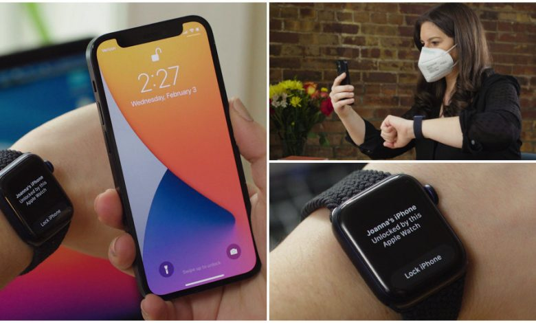 How to unlock your iPhone with your Apple Watch when wearing a face mask