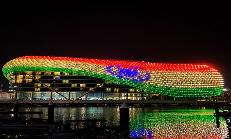 Abu Dhabi's Yas Island lights up in tricolour in solidarity with India during Covid crisis