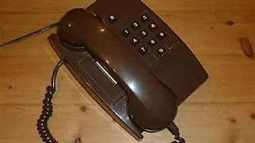 For the joke, a landline phone was the best option.