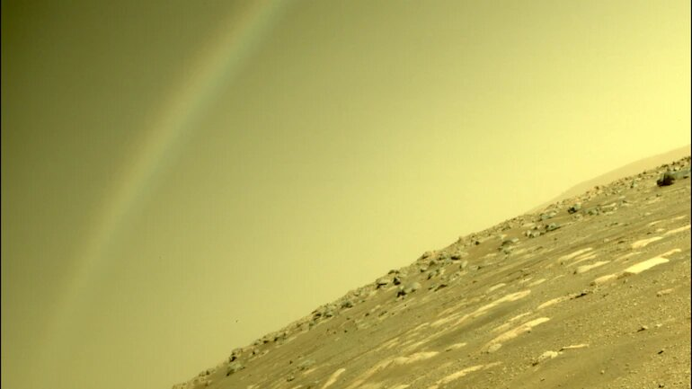 Is that a rainbow on Mars? Nasa explains photo clicked by Perseverance rover