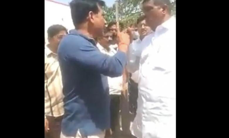 UP: Block MLA from BJP MLA took out revolver in Nokzhonk, video viral