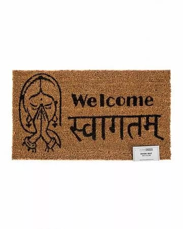 These 'welcome' doormats used to welcome guests before us.