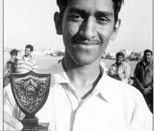 Mahendra Singh Dhoni in his younger days
