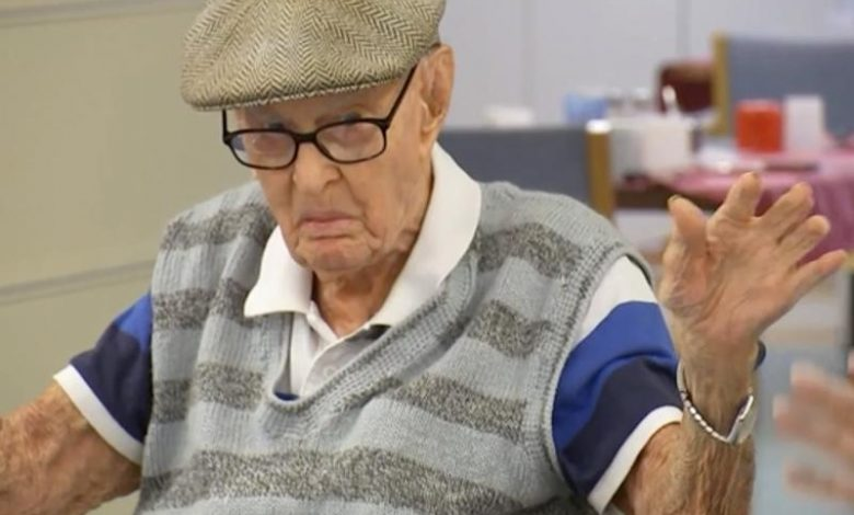 111-year-old Australian man recommends eating chicken brains