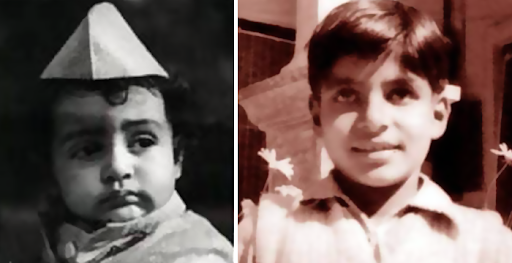 Amitabh Bachchan in his childhood