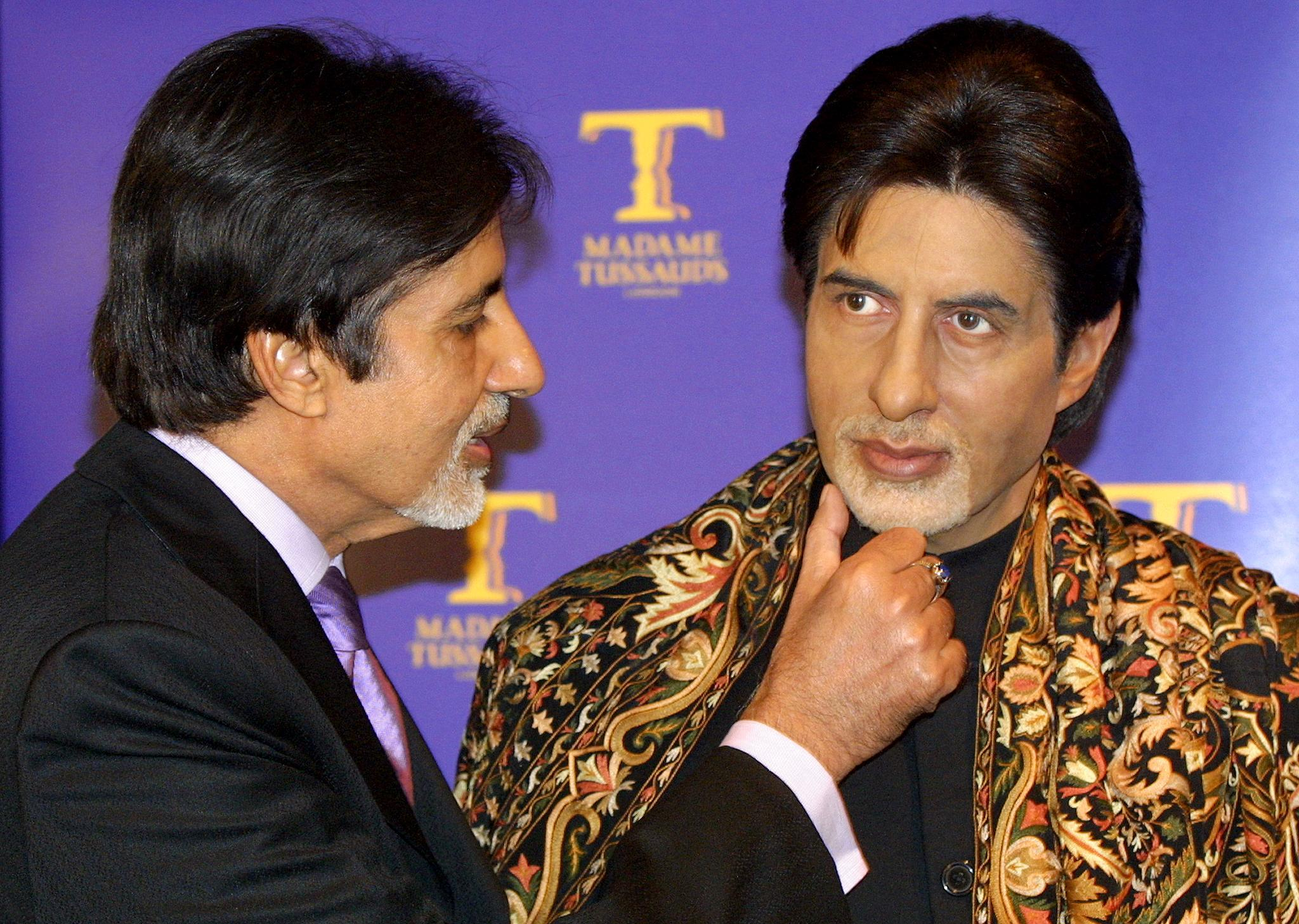 Amitabh Bachchan's wax statue at the Madame Tussauds, London