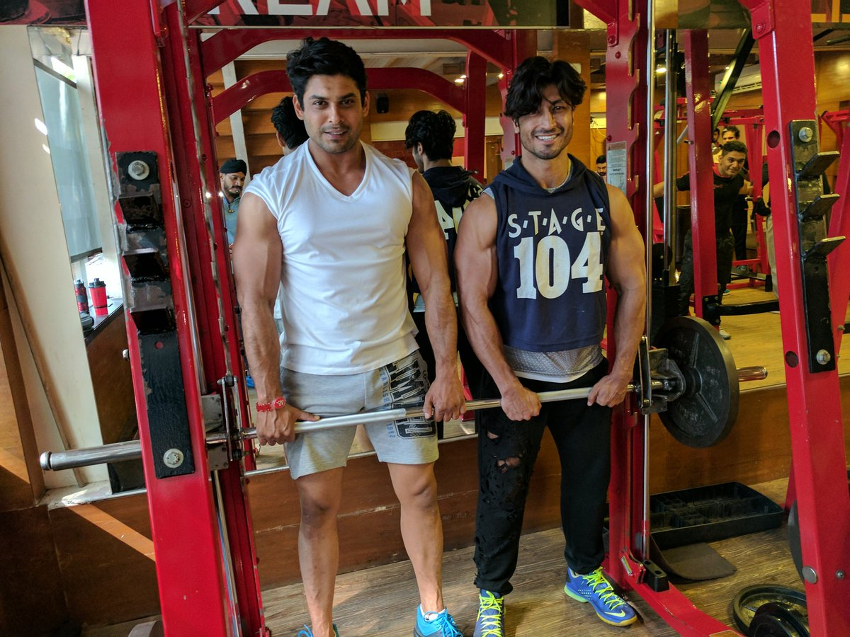 Siddharth is very particular about his fitness and visits the gym regularly