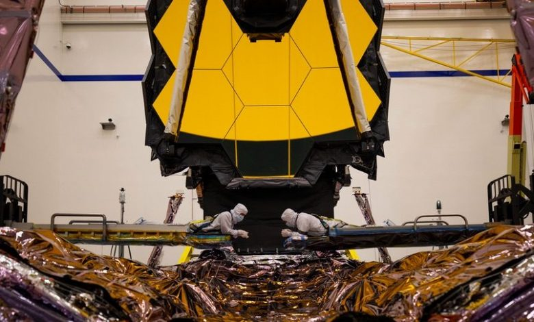 James Webb Telescope spreads golden wings one last time on Earth before heading out to space
