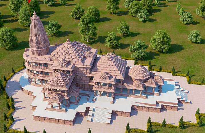 Construction of Ram Temple in Ayodhya caught in satellite images