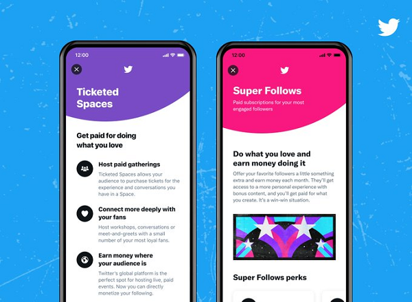 Twitter invites users to test its monetization features Ticketed Spaces, Super Follows
