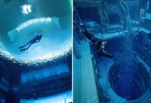 Deep Dive Dubai, world's deepest swimming pool, opens to crazy videos. Trending now
