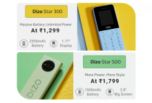 Realme launches Dizo Star 500 and Dizo Star 300 feature phones, starts at Rs 1,299