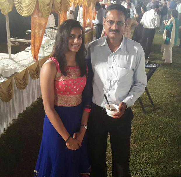PV Sindhu With Her Father