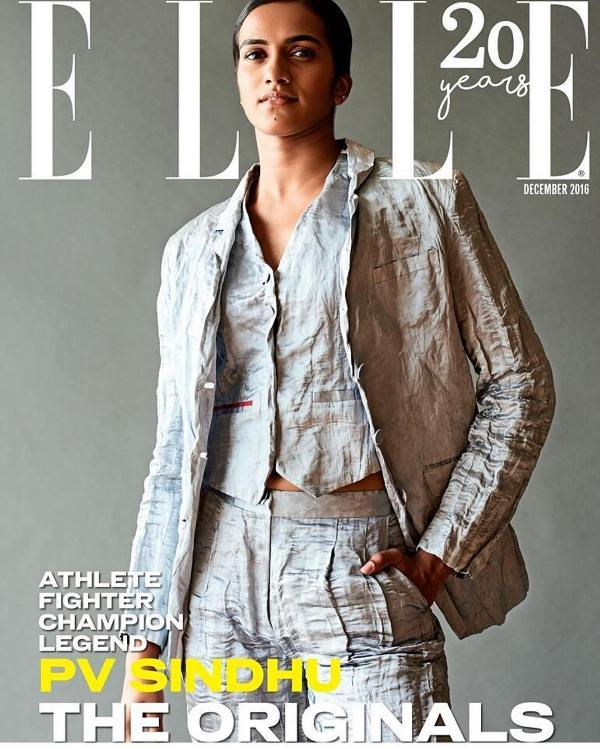 PV Sindhu on the cover of Elle Magazine