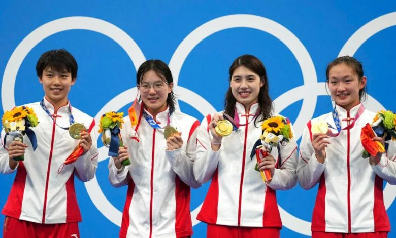 Tokyo Olympics: China stun US and Australia to win 4x200m freestyle swimming in world record time
