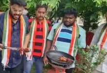 Congress workers fry 'Twitter bird' to protest action against Rahul Gandhi