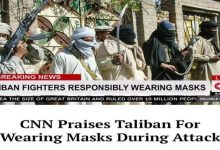 CNN did not praise Taliban for wearing masks during Afghan siege. Report is from satire portal