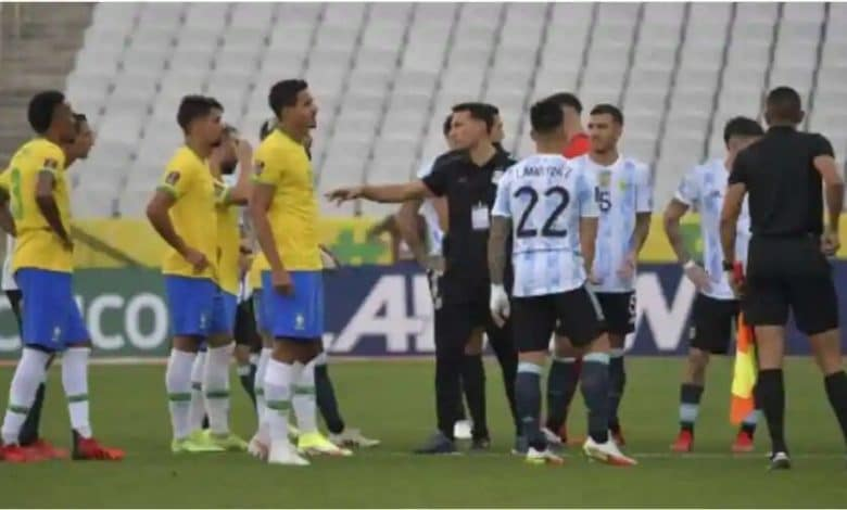 Bizarre scenes! Brazil-Argentina match halted as police storm on field to arrest 4 Premier League players
