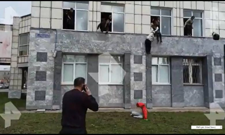 8 dead in shooting at Russia university, video shows students jumping out of window to escape